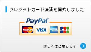 クレジットカード決済の取り扱いを始めました